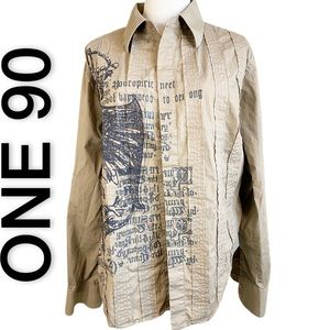 One-90 Button Down Casual Shirt (M)